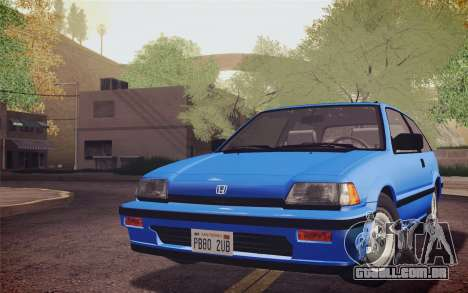 Honda Civic S 1986 IVF para GTA San Andreas traseira esquerda vista