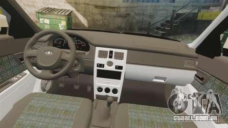 ВАЗ-2170 Instalado Antes do para GTA 4 vista superior