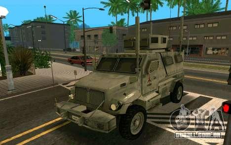 MRAP Mèxico Marinha para GTA San Andreas esquerda vista