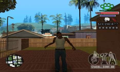 C-HUD Gangster by NickQuest para GTA San Andreas terceira tela