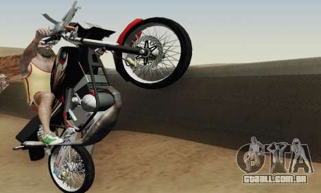 Yamaha Rx-King 135 2008 para GTA San Andreas vista inferior