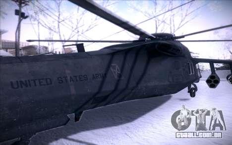 MH-X Silenthawk para GTA San Andreas vista traseira
