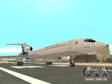 Tu-154 B-2 SCC da Rússia para GTA San Andreas vista traseira
