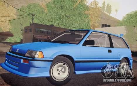Honda Civic S 1986 IVF para GTA San Andreas vista traseira