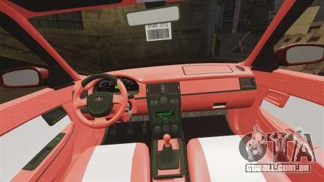 VAZ-2170 Dubai para GTA 4 vista superior