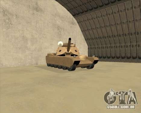 Rhino Mark.VI para GTA San Andreas esquerda vista