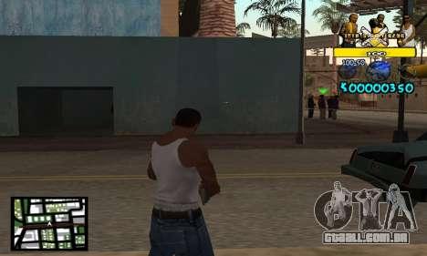 Vagos C-Hud para GTA San Andreas segunda tela