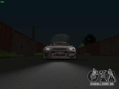 Nissan Skyline BNR32 para GTA San Andreas vista traseira