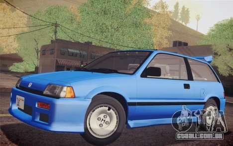 Honda Civic S 1986 IVF para GTA San Andreas vista direita