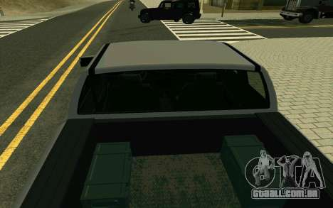 GTA V Bison Version 2 FIXED para GTA San Andreas vista traseira