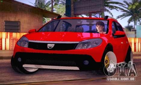 Dacia Sandero para GTA San Andreas vista interior