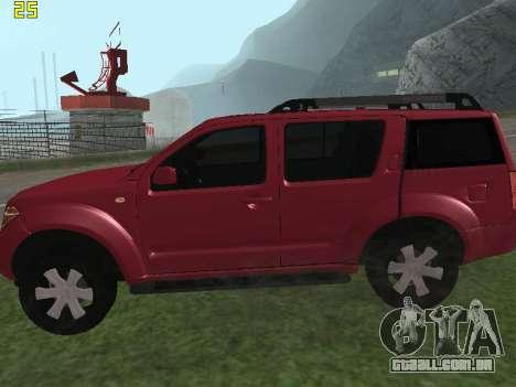 Nissan Pathfinder para GTA San Andreas esquerda vista