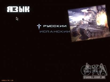 Menu de World of Tanks para GTA San Andreas oitavo tela