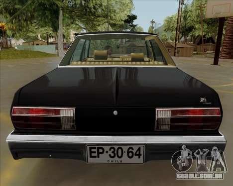 Dodge Aspen para GTA San Andreas vista traseira