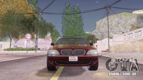 BMW 750Li E66 para GTA San Andreas vista inferior