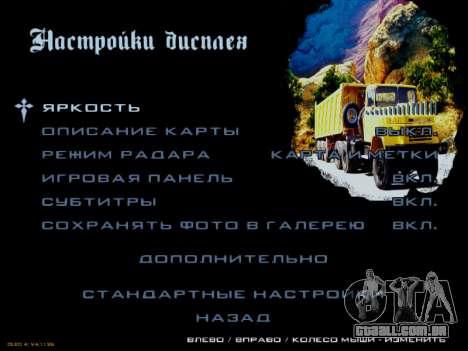 Arranque telas Soviética Caminhões para GTA San Andreas décima primeira imagem de tela