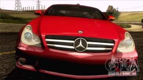 Mercedes-Benz CLS 63 AMG 2008 para GTA San Andreas vista interior