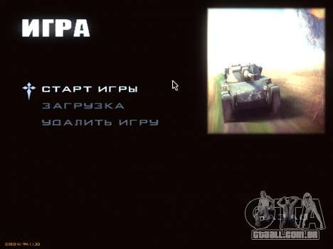 Menu de World of Tanks para GTA San Andreas terceira tela