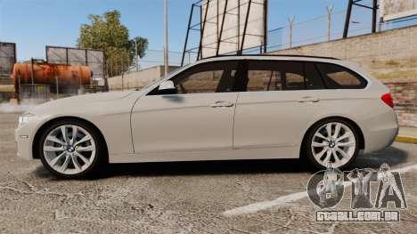 BMW 330d Touring (F31) 2014 Unmarked Police ELS para GTA 4 esquerda vista