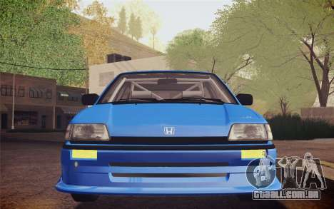 Honda Civic S 1986 IVF para GTA San Andreas vista interior