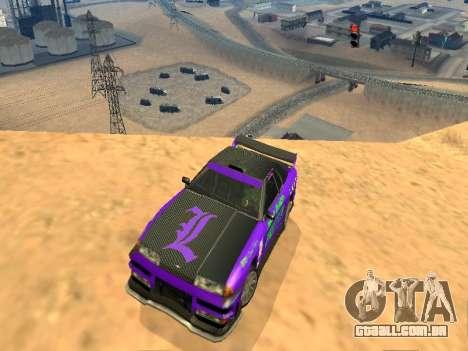 Equipe de Luni vinis para Elegy para GTA San Andreas vista traseira