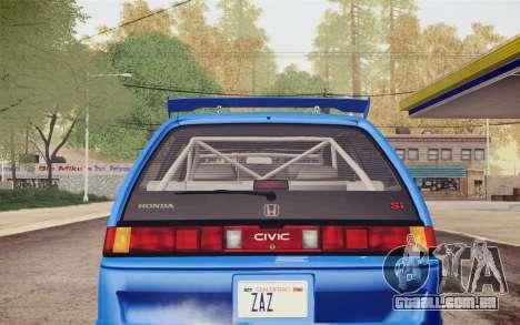 Honda Civic S 1986 IVF para GTA San Andreas vista superior