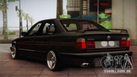 BMW E34 Alpina B10 para GTA San Andreas vista direita