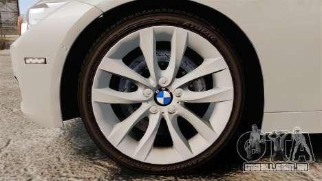 BMW 330d Touring (F31) 2014 Unmarked Police ELS para GTA 4 vista de volta