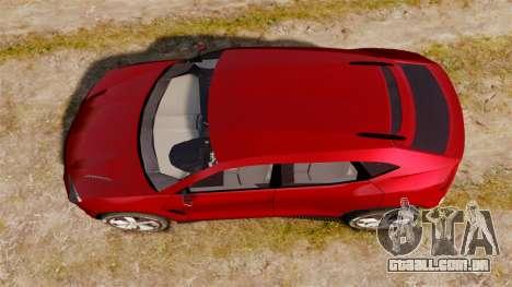 Lamborghini Urus LP840 2015 para GTA 4 vista direita