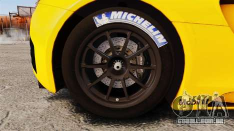 McLaren MP4-12C GT3 (Updated) para GTA 4 vista de volta
