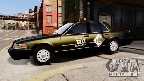Ford Crown Victoria Cab para GTA 4 esquerda vista