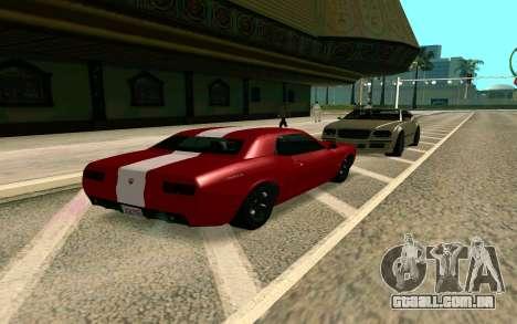 GTA V Gauntlet para GTA San Andreas traseira esquerda vista