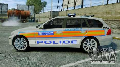 BMW 330i Touring Metropolitan Police [ELS] para GTA 4 esquerda vista