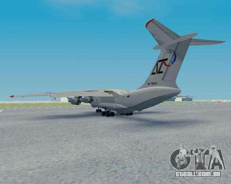 Il-76TD Aviacon zitotrans para GTA San Andreas vista traseira