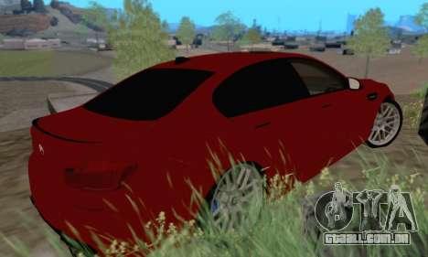 BMW M5 F10 v1.1 para GTA San Andreas traseira esquerda vista