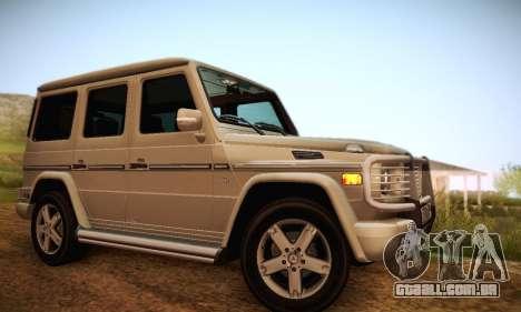 Mercedes-Benz G500 para o motor de GTA San Andreas
