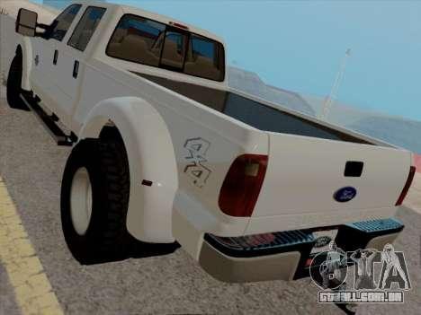 Ford F450 Super Duty 2013 para GTA San Andreas traseira esquerda vista