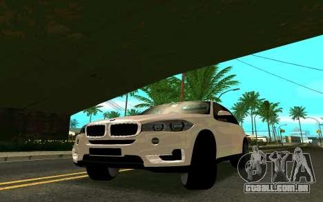 BMW X5 F15 para GTA San Andreas traseira esquerda vista