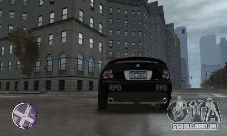 Holden Monaro CV8-R Police para GTA 4 vista interior