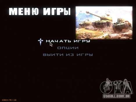 Menu de World of Tanks para GTA San Andreas segunda tela