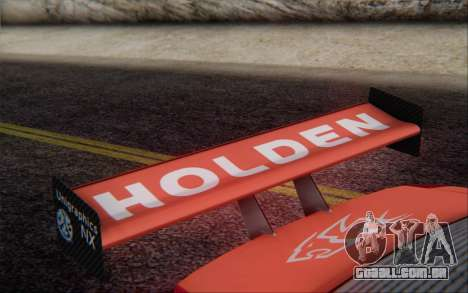 Holden Commodore para GTA San Andreas vista traseira