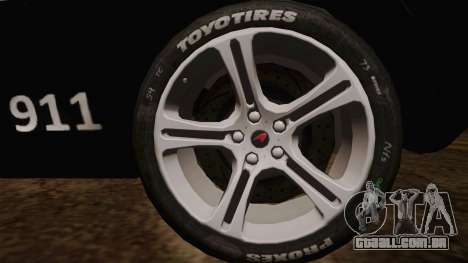 McLaren MP4-12C Police Car para GTA San Andreas traseira esquerda vista