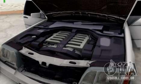Mercedes-Benz 600SEL para GTA San Andreas vista traseira