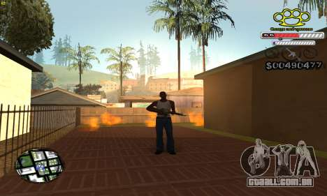 C-HUD Gangster by NickQuest para GTA San Andreas segunda tela