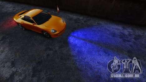 Azul faróis para GTA 4
