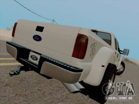 Ford F450 Super Duty 2013 para GTA San Andreas vista direita