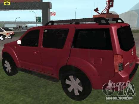 Nissan Pathfinder para GTA San Andreas traseira esquerda vista