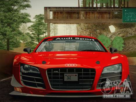 Audi R8 LMS Ultra W-Racing Team Vinyls para GTA San Andreas traseira esquerda vista