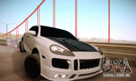 Porsche Cayenne para GTA San Andreas vista superior
