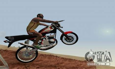 Yamaha Rx-King 135 2008 para GTA San Andreas interior